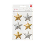 American Crafts - Deck the Halls Collection - Christmas - 3 Dimensional Stars - Silver and Gold