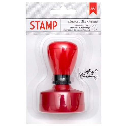 American Crafts - Deck the Halls Collection - Christmas - Self Inking Stamp - Christmas
