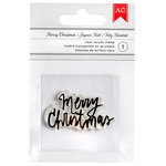 American Crafts - Clear Acrylic Stamps - Merry Christmas - Fancy