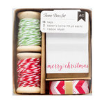 American Crafts - Twine Boxes - Red and Green
