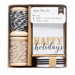 American Crafts - Twine Boxes - Black, White, and Kraft
