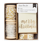 American Crafts - Twine Boxes - Gold and Silver
