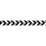 American Crafts - Grosgrain Ribbon - 0.625 Inch - Black and White Chevron - 4 Yards