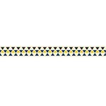 American Crafts - Grosgrain Ribbon - 0.625 Inch - Triangles - 4 Yards