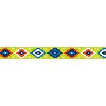 American Crafts - Grosgrain Ribbon - 0.625 Inch - Bright Aztec - 4 Yards