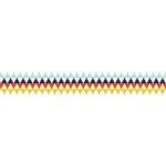 American Crafts - Grosgrain Ribbon - 0.875 Inch - Geo Triangles - 4 Yards