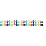American Crafts - Grosgrain Ribbon - 0.875 Inch - Triangles - 4 Yards
