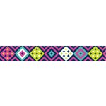 American Crafts - Grosgrain Ribbon - 0.875 Inch - Bright Aztec - 4 Yards