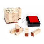 American Crafts - Deck the Halls Collection - Christmas - Wood Stamps - Alphabet