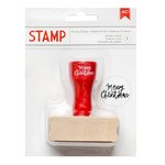 American Crafts - Deck the Halls Collection - Christmas - Wood Stamps - Merry Christmas