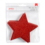 American Crafts - Deck the Halls Collection - Christmas - Glitter Stars - Red