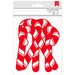 American Crafts - Deck the Halls Collection - Christmas - Chipboard Glitter Candy Canes