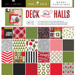 American Crafts - Deck the Halls Collection - Christmas - 12 x 12 Paper Pad