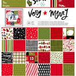 American Crafts - Deck the Halls Collection - Christmas - 12 x 12 Paper Pad - Very Merry