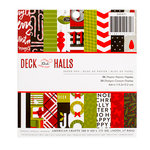 American Crafts - Deck the Halls Collection - Christmas - 6 x 6 Paper Pad