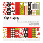 American Crafts - Deck the Halls Collection - Christmas - 6 x 6 Paper Pad - Very Merry