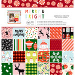 American Crafts - Christmas - 12 x 12 Paper Pad - Merry and Bright