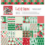 American Crafts - Christmas - 12 x 12 Paper Pad - Let it Snow
