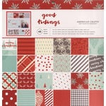 American Crafts - Christmas - 12 x 12 Paper Pad - Golden Holidays
