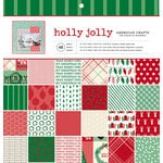 American Crafts - Christmas - 12 x 12 Paper Pad - Holly Jolly