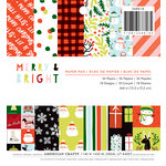 American Crafts - Christmas - 6 x 6 Paper Pad - Merry and Bright
