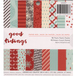 American Crafts - Christmas - 6 x 6 Paper Pad - Golden Holidays