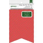 American Crafts - Christmas - Banner - Notch - Red Polka Dot