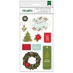 American Crafts - Christmas - Chipboard Stickers - Celebrate