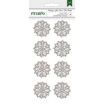 American Crafts - Christmas - Glitter Stickers - Snowflakes