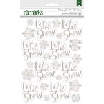 American Crafts - Christmas - Foil Stickers - Let it Snow