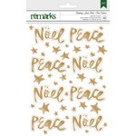 American Crafts - Christmas - Foil Stickers - Noel, Peace