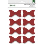 American Crafts - Christmas - Red Glitter Bows