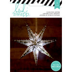 Heidi Swapp - Paper Lanterns - Small - 7 Point - Silver