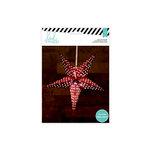 Heidi Swapp - Paper Lanterns - Medium - 5 Point - Red