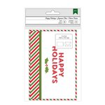 American Crafts - Christmas - Cards and Envelopes - Happy Holidays