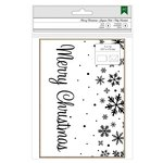 American Crafts - Christmas - Cards and Envelopes - Kraft and Snowflakes