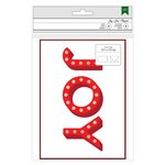 American Crafts - Christmas - Cards and Envelopes - Gold Foil - Joy