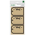 American Crafts - Christmas - Cardstock Stickers - Noel - Kraft