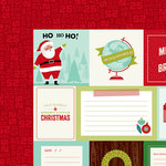 American Crafts - Shimelle Collection - Christmas Magic - 12 x 12 Double Sided Paper - Joy