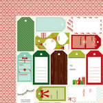 American Crafts - Shimelle Collection - Christmas Magic - 12 x 12 Double Sided Paper - Give