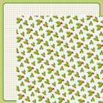 American Crafts - Shimelle Collection - Christmas Magic - 12 x 12 Double Sided Paper - Holly