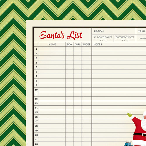 American Crafts - Christmas Magic Collection - 12 x 12 Double Sided Paper - List
