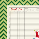 American Crafts - Shimelle Collection - Christmas Magic - 12 x 12 Double Sided Paper - List