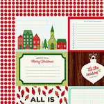 American Crafts - Shimelle Collection - Christmas Magic - 12 x 12 Double Sided Paper - Jolly
