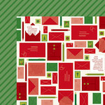 American Crafts - Christmas Magic Collection - 12 x 12 Double Sided Paper - Write