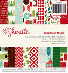 American Crafts - Shimelle Collection - Christmas Magic - 6 x 6 Paper Pad