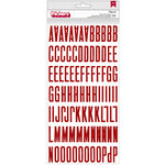 American Crafts - Shimelle Collection - Christmas Magic - Thickers - Glitter - Fitzgerald - Red