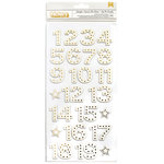 American Crafts - Christmas Magic Collection - Thickers - Foil - Starlight - Numbers - Gold