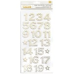 American Crafts - Shimelle Collection - Christmas Magic - Thickers - Foil - Starlight - Numbers - Gold
