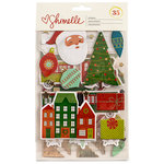 American Crafts - Christmas Magic Collection - Foil Stickers - Waterfall